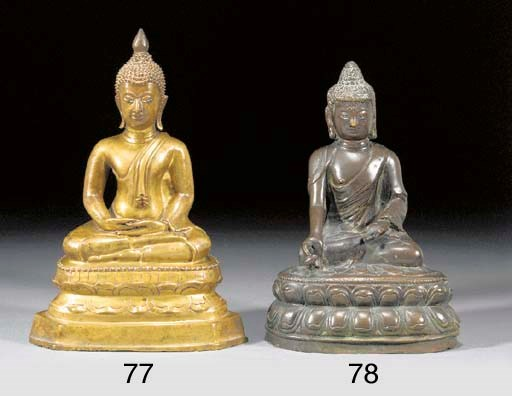 A Tibetan bronze model of Budd