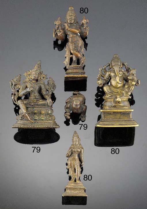 An Indian bronze seated deity