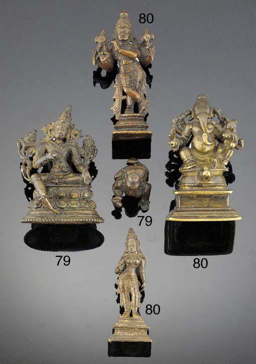 An Indian bronze model of Gane