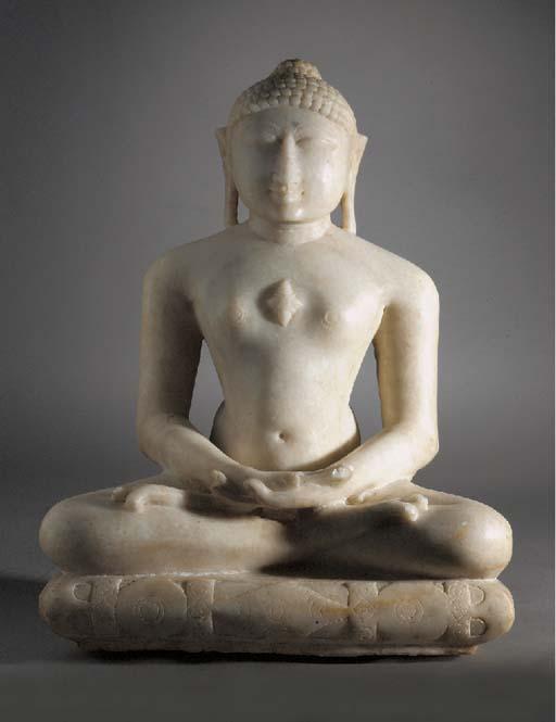 An Indian marble Deity Jain, probably 12th/13th Century