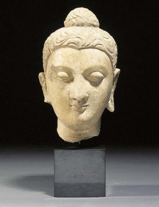 A stucco head of Budda Gandhar