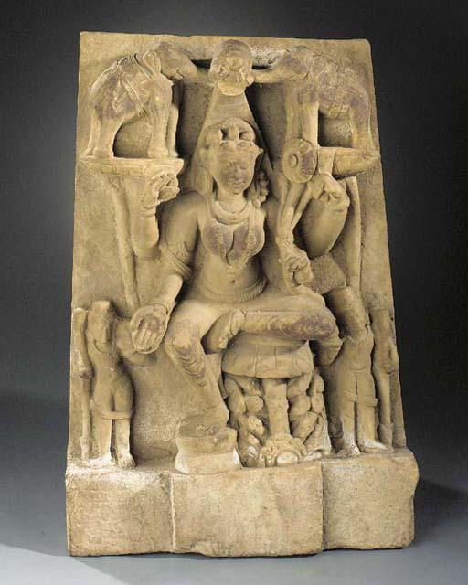 A buff sandstone figure of Gaj