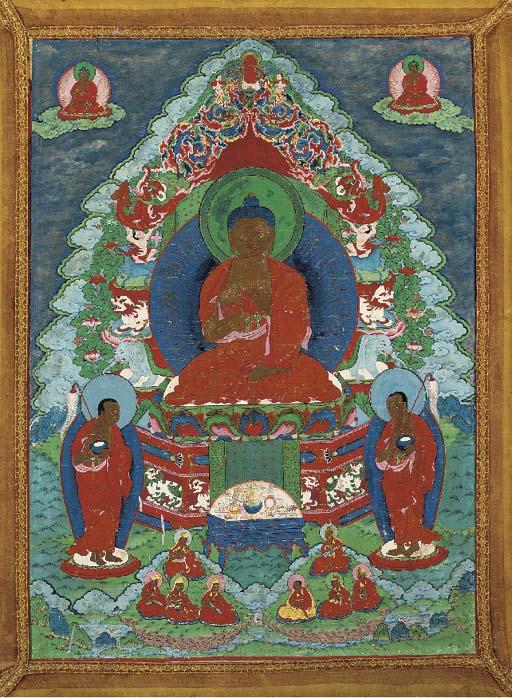 A Sino-Tibetan Tangka 19th Cen