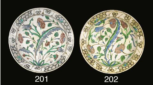 An Iznik dish 17th century