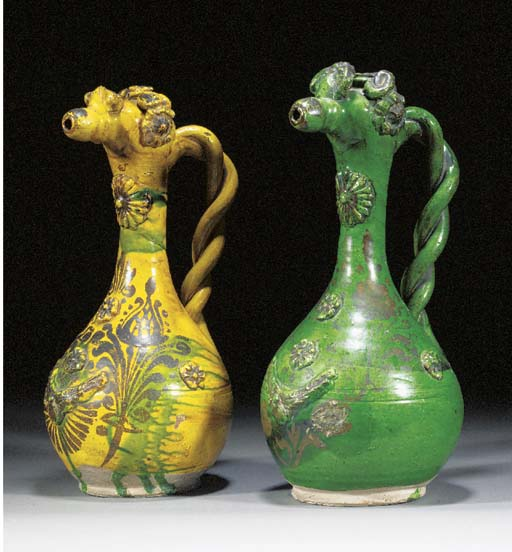 Two Channakale pottery ewers 1