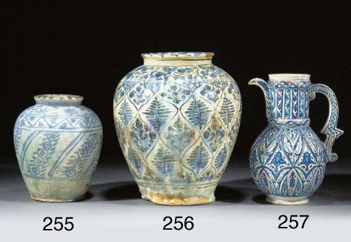 A Safavid blue and white ovoid