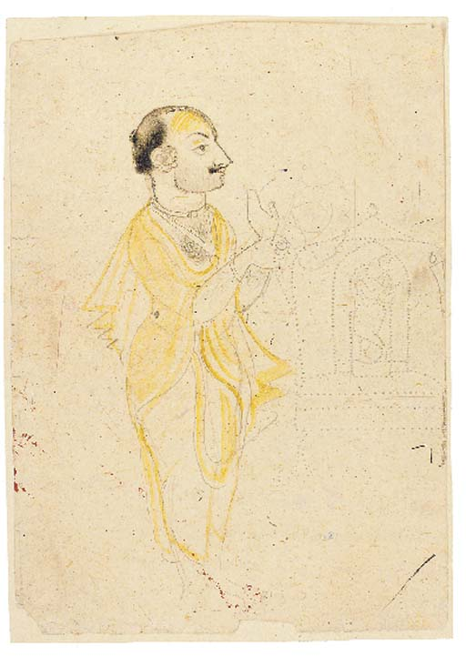 Drawing of a Priest Rajasthan,