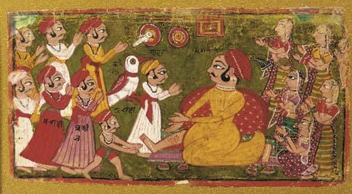 Ruler Holding Court Rajasthani