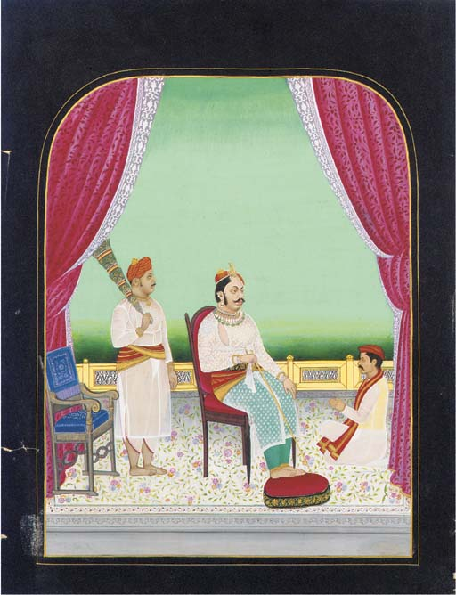 Portrait of a Ruler Seated on