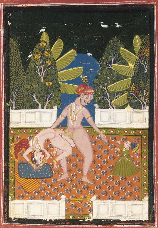 Lovers on a Terrace Rajasthan,
