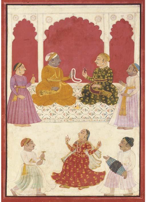 Rajput nobles watching a nautc