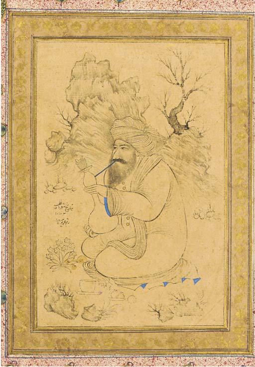 Man Smoking a Hookah Isfahan,