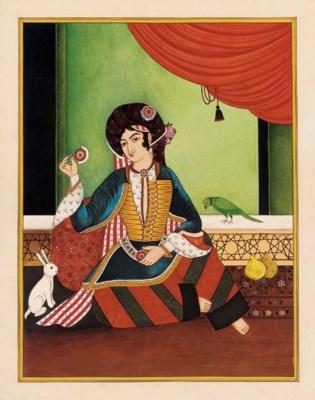 Set of Six Qajar Style Portrai