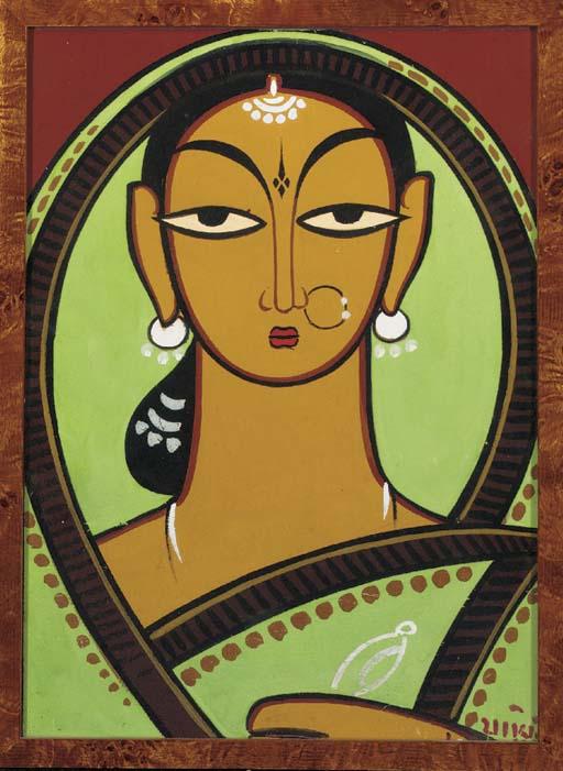 An Indian Woman Jamini Roy, India (1887-1972)