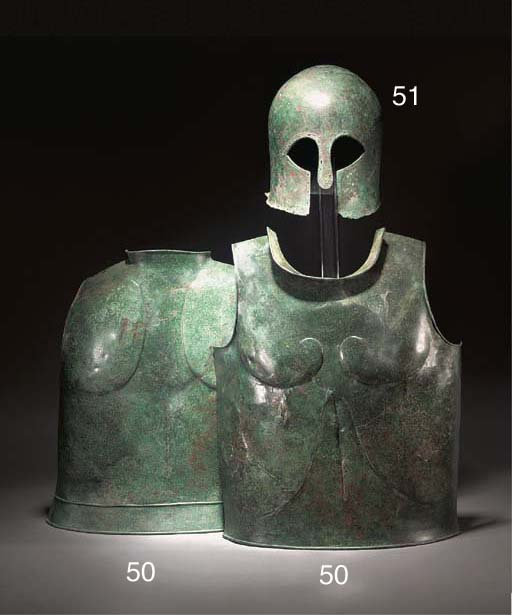 A GREEK BRONZE CUIRASS