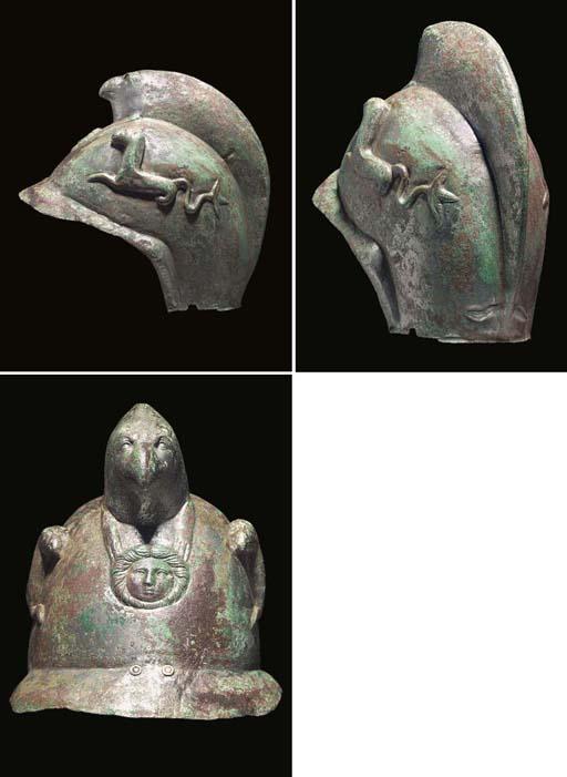 A ROMAN TINNED COPPER CAVALRY