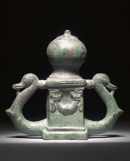 A ROMAN BRONZE CHARIOT FITTING