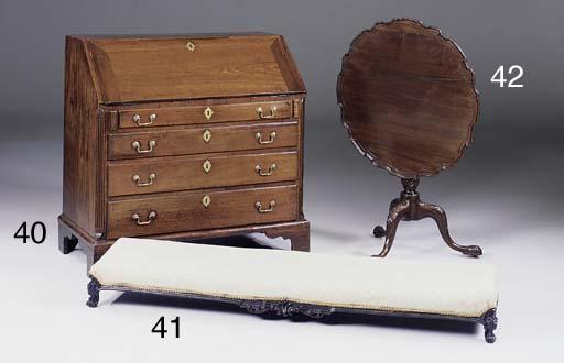 A mahogany bureau, parts 18th century and later