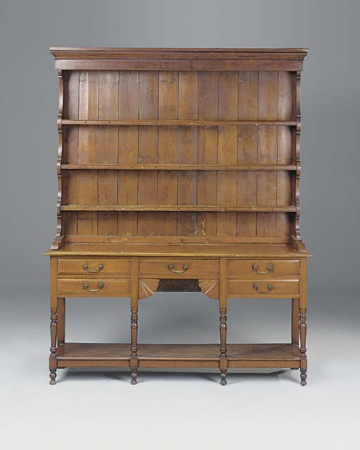 A STAINED MAHOGANY DRESSER, SOUTH WALES, LATE 19TH CENTURY