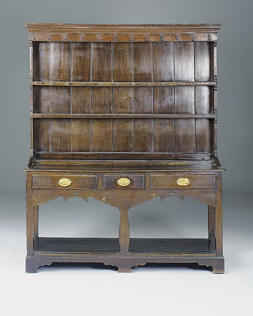 AN OAK DRESSER, SOUTH WALES, L