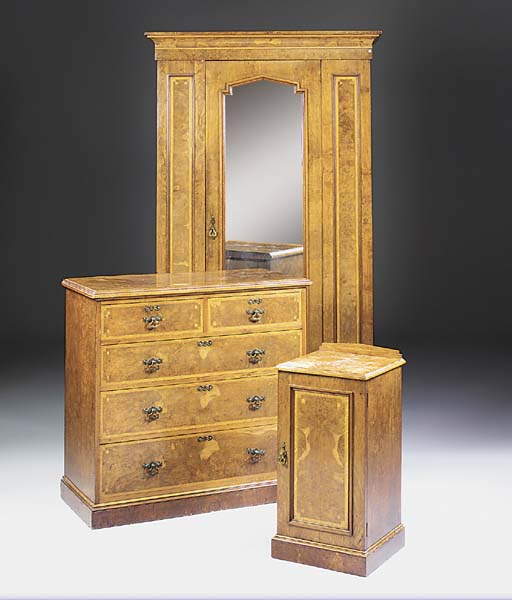 A LATE VICTORIAN OAK AND BROWN