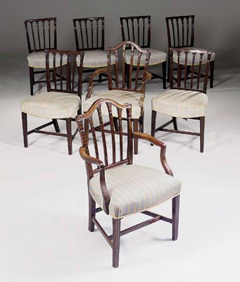 A set of eight George III maho