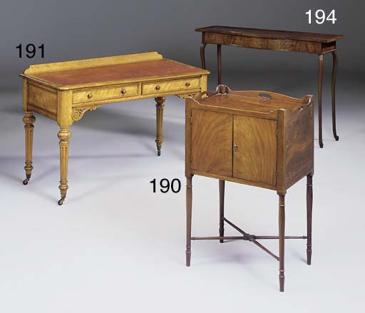 A late George III mahogany tra