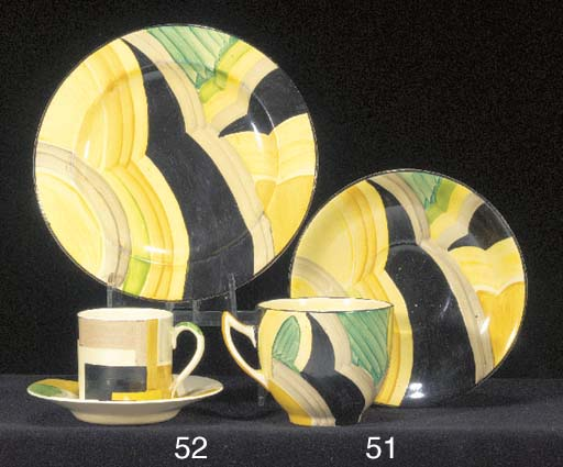 A Gray's Pottery hand-painted