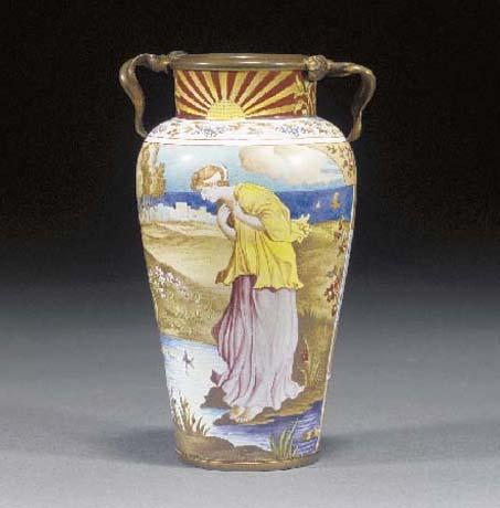 An Aesthetic enamelled vase