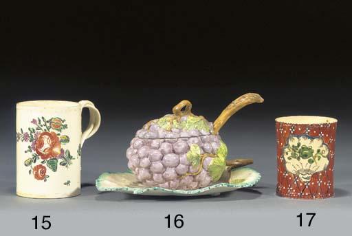 An English creamware small cyl