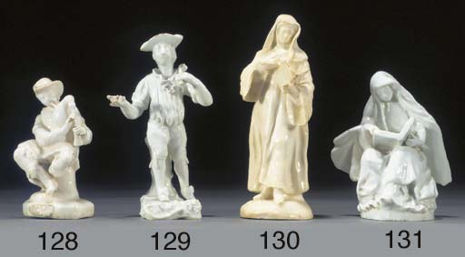 A Bow white figure of a nun