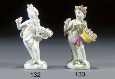 An English white porcelain fig