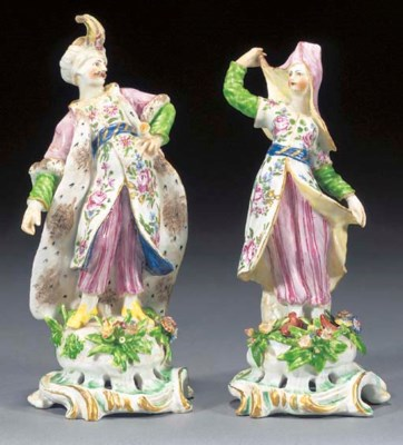 A pair of Bow figures of a Tur