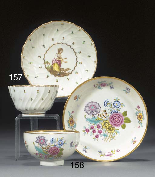 A Derby teacup and saucer