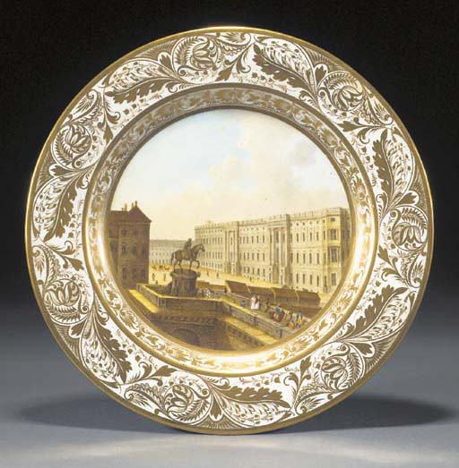 A Derby topographical plate