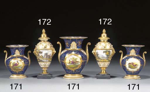 A pair of Miles Mason porcelai