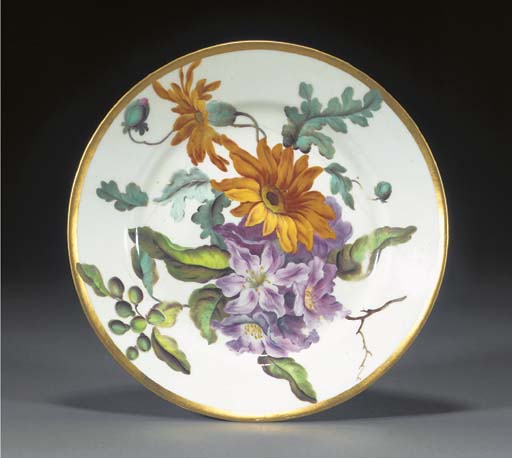A Derby botanical plate