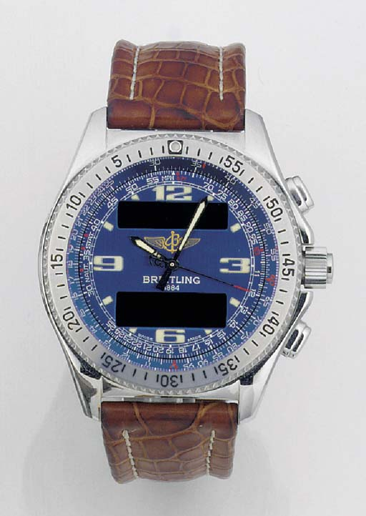 BREITLING, A STAINLESS STEEL C