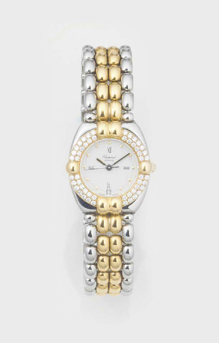 CHOPARD, A LADY'S STEEL AND GO