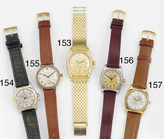 ROLEX, A 9ct. GOLD AUTOMATIC C