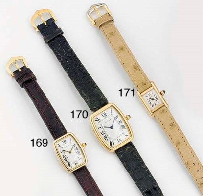 CARTIER, A LADY'S 18ct. GOLD T