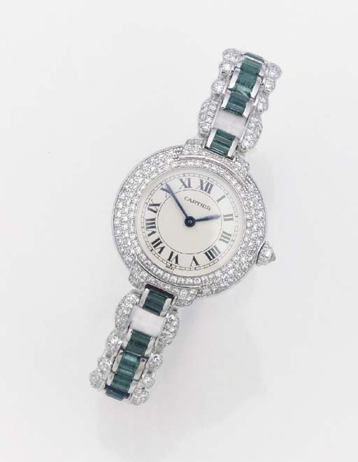 CARTIER, A LADY'S 18ct. WHITE