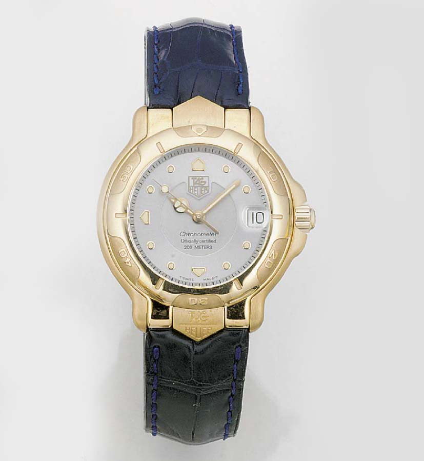 TAG HEUER, AN 18ct. GOLD AUTOM