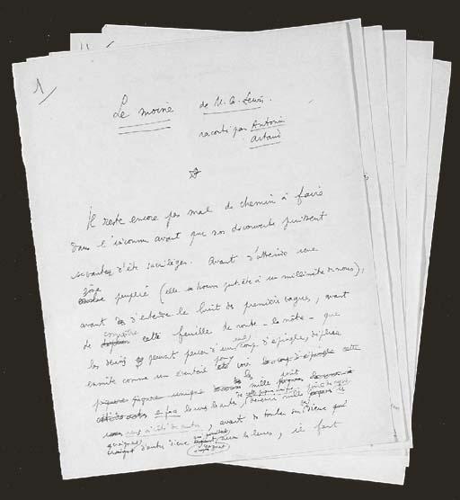 COCTEAU, Jean. Autograph manus