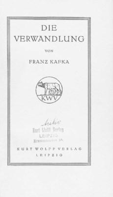 KAFKA, Franz (1883-1924). Die