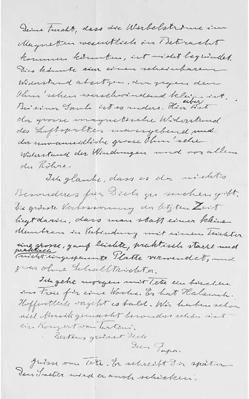 EINSTEIN, Albert. Autograph le