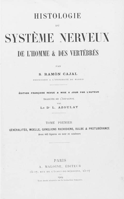 RAMÓN Y CAJAL, Santiago (1852-