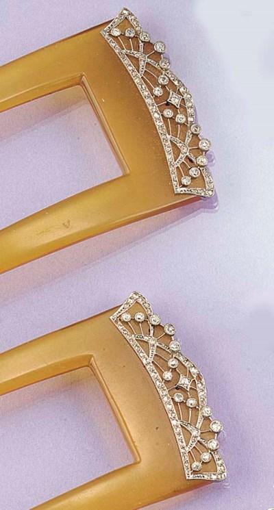 A pair of diamond, rose-cut di