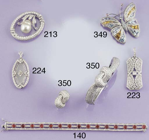 A diamond knot bangle and ring
