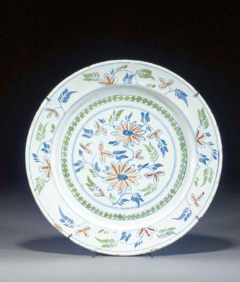 An English polychrome dish